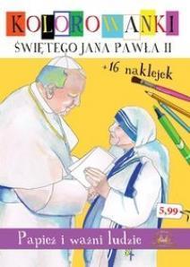 Kolorowanki Św.Jana Pawła II Papież i ważni ludzie