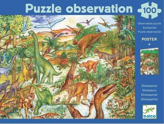 Puzzle z plakatem - Dinozaury