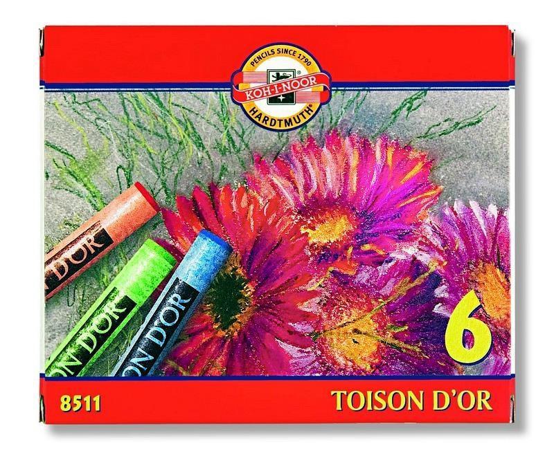 Kredki Pastele Toison D'or 6 kolorów