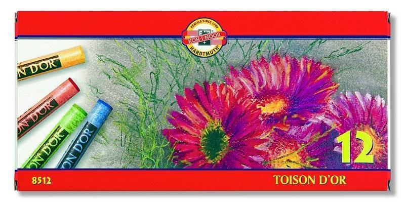Kredki Pastele Toison D'or 12 kolorów