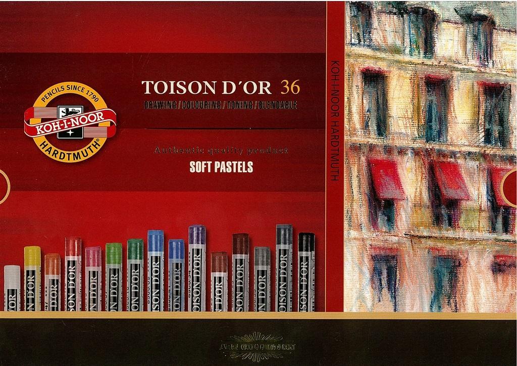 Kredki Pastele sucheToison D'or 36 kolorów