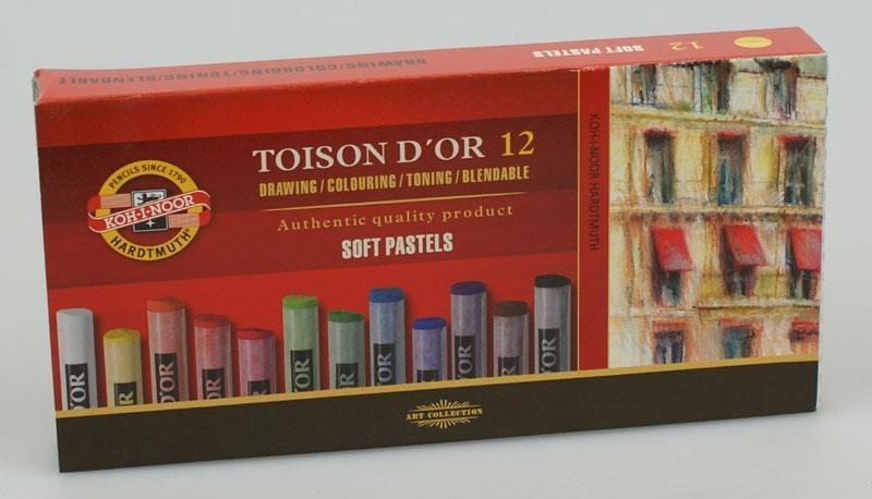 Kredki Pastele Toison D`or 12 kolorów