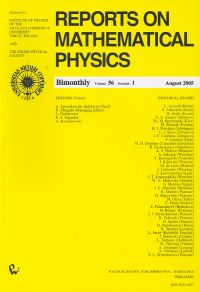 Reports on Mathematical Physics 56/1 wer.kraj. - brak