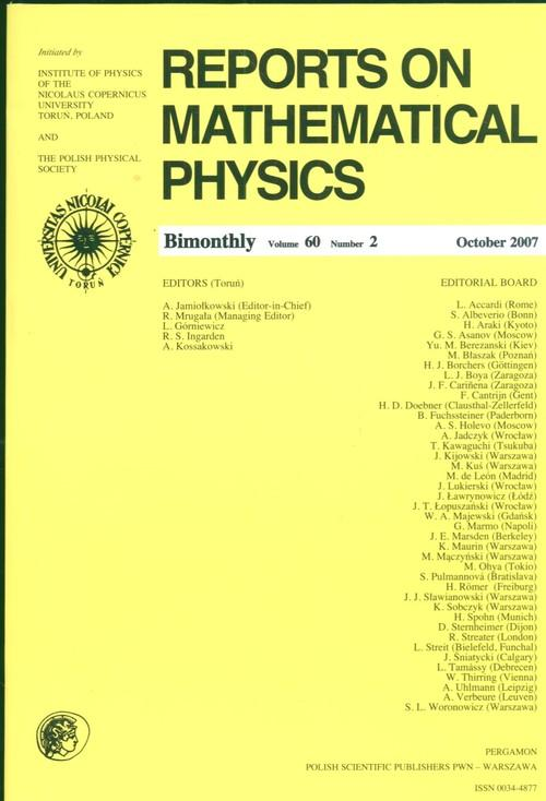 Reports on Mathematical Physics 60/2 wer.zagr. - brak