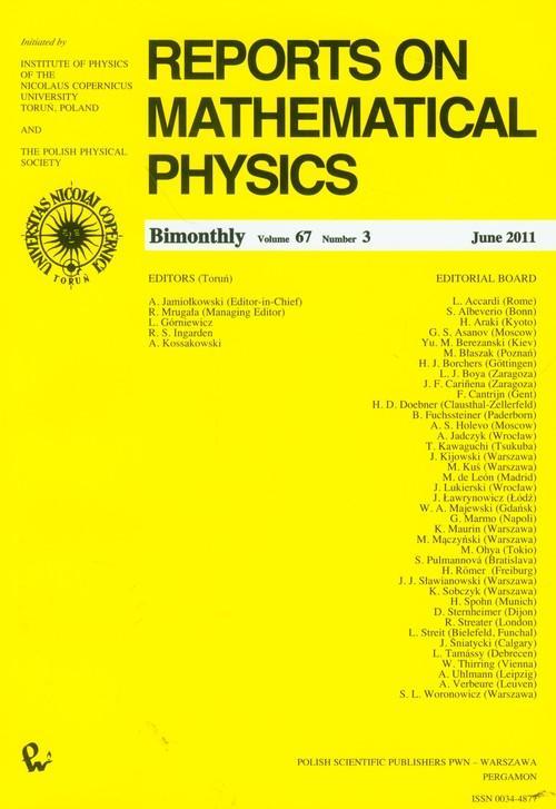 Reports on Mathematical Physics 67/3 - brak