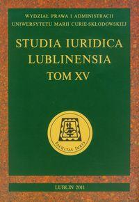 Studia Iuridica Lublinensia t XV - brak