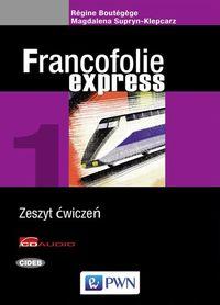 Francofolie express 1 Zeszyt ćwiczeń z języka francuskiego z 2 płytami CD - Boutegege Regine, Supryn-Klepcarz Magdalena