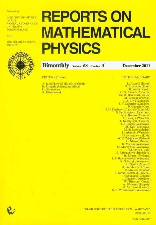 Reports on Mathematical Physics 68/3 - brak