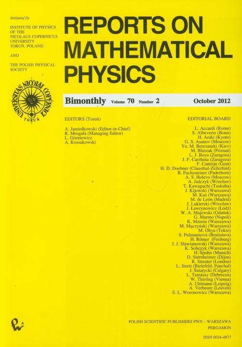 Reports on Mathematical Physics 70/2 - brak
