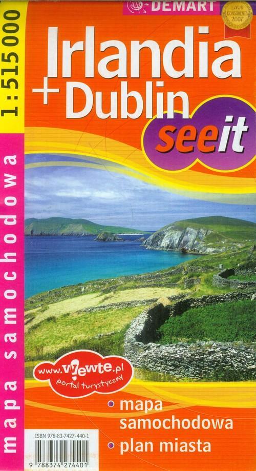 Irlandia Dublin mapa samochodowa 1:515 000 - brak