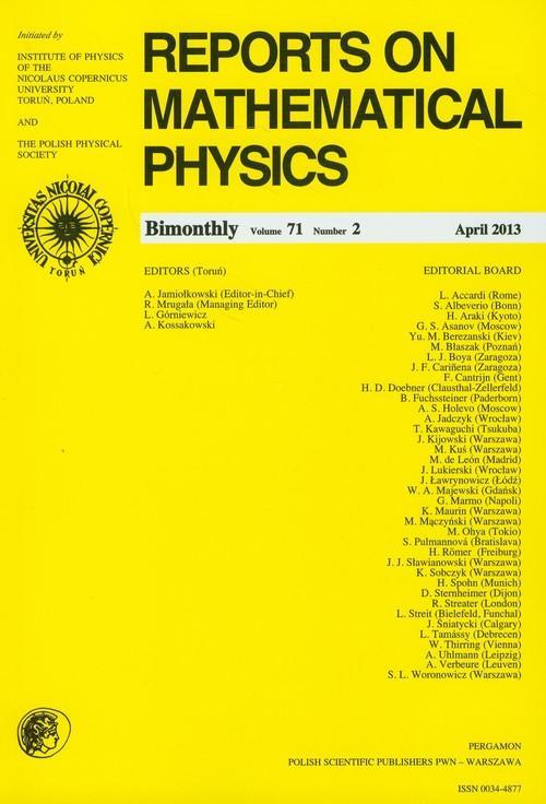 Reports on Mathematical Physics 54/2 wer.eksp. - brak