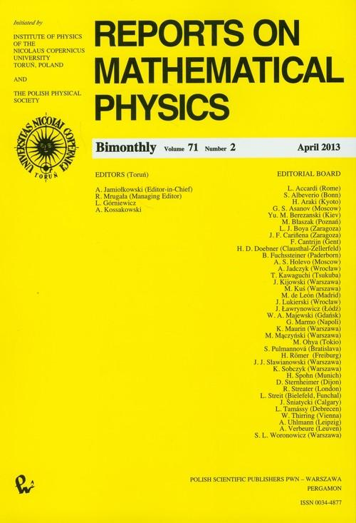 Reports on Mathematical Physics 71/2 - brak