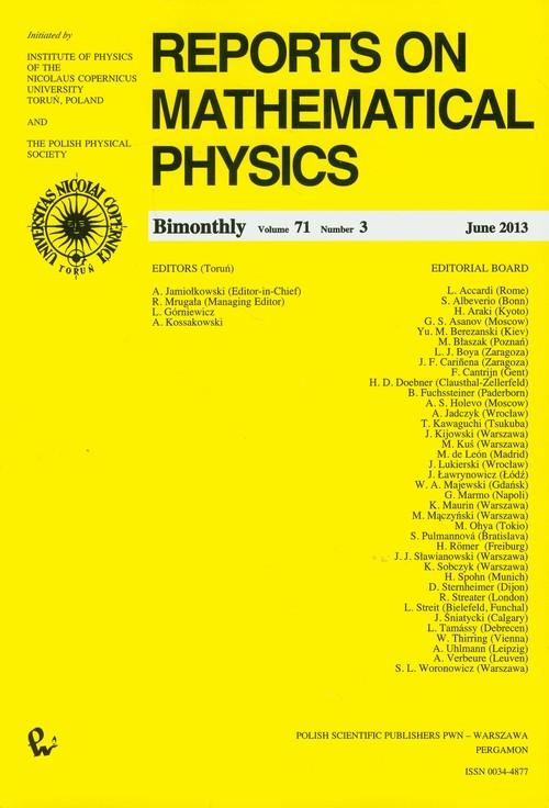 Reports on Mathematical Physics 71/3 - brak