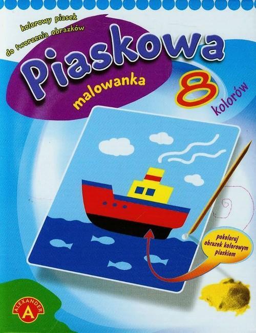 Piaskowa malowanka mini statek
