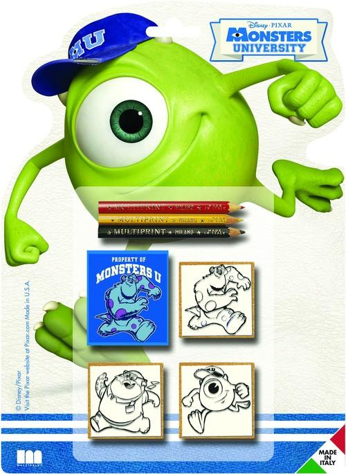 Pieczątki Monsters University 3 sztuki