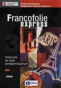 Francofolie express 3 Podręcznik z płytą CD - Boutegege Regine, Supryn-Klepcarz Magdalena