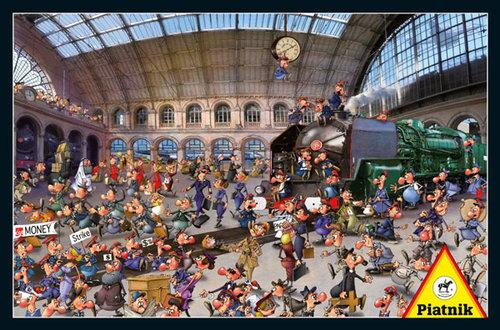 Puzzle Piatnik Ruyer Stacja kolejowa 1000 - 5371