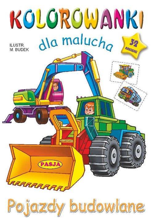 Kolorowanki dla malucha Pojazdy budowlane - Budek Mariola
