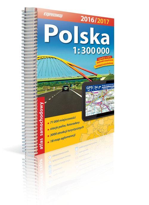 Polska Atlas samochodowy 1:300 000 2016/2017 - brak