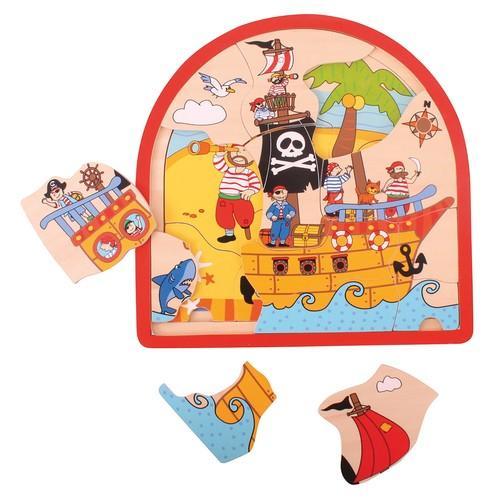 Puzzle drewniane Statek Piracki