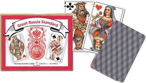 Karty do gry Piatnik 2 talie Rosyjskie Standardowe - brak
