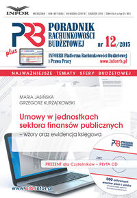Umowy w jednostkach sektora finansów publicznych - wzory oraz ewidencja księgowa + CD
