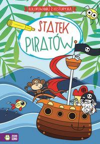 Statek piratów Kolorowanki z historyjką
