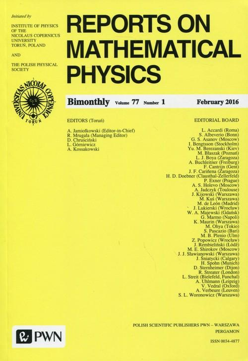 Reports on Mathematical Physics 77/1 2016 Kraj - brak