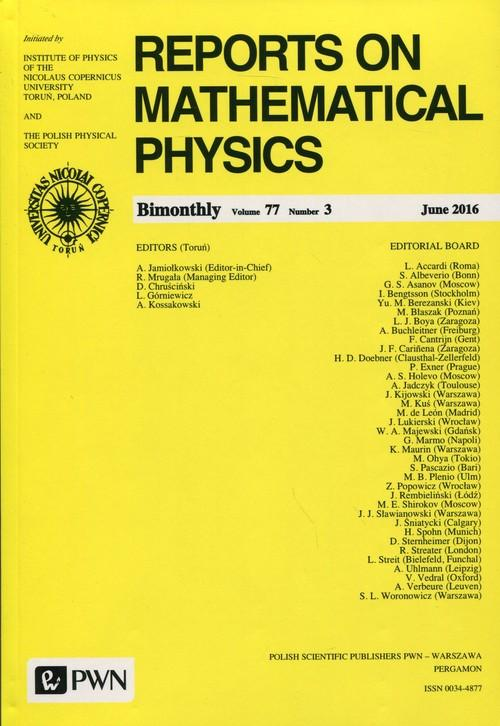 Reports on Mathematical Physics 77/3 2016 Kraj - brak