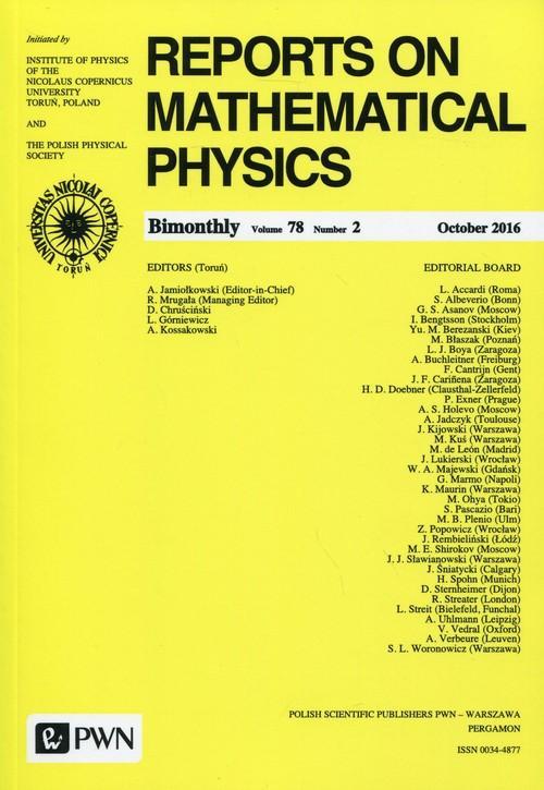 Reports on Mathematical Physics 78/2 2016 Kraj - brak