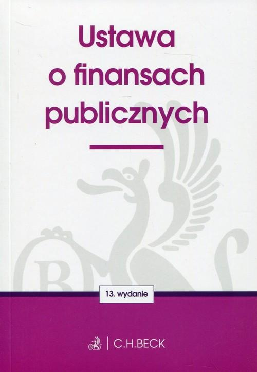 Ustawa o finansach publicznych - brak