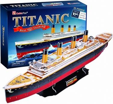 Puzzle 3D Duży zestaw. Statek Titanic
