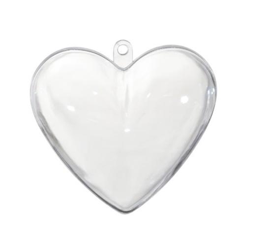 Akrylowe serce dwu częściowe 60mm