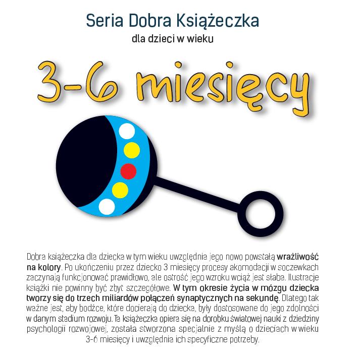 Seria Dobra Książeczka dla dzieci w wieku 3-6 miesięcy - Agnieszka Starok
